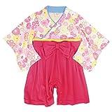 袴 ロンパース 女の子 ベビー 赤ちゃん はかま 和装 カバーオール フォーマル TM004 ピンク 70cm