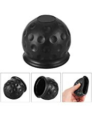 OurLeeme 50mm Trailer Black Rubber Tow Ball Cover Cap Proteger Tow Bar Ball Black Rubber Hitch Cover