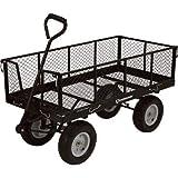 Strongway Steel Jumbo Garden Wagon - 1400-Lb. Capacity, 48in.L x 24in.W