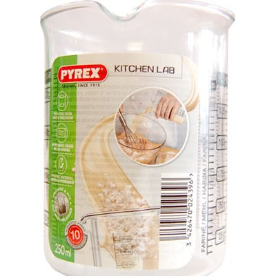 Pyrex Indispensable 250ml Kitchen Lab Measure and Mix Beaker (Neoteric Design) [Pack of 3]