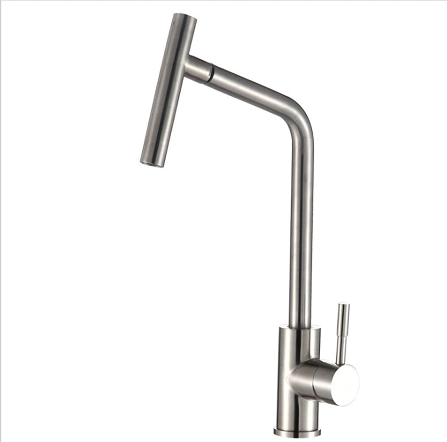 Kitchen Taps Faucet Modern Kitchen Sink Taps Stainless Steel304 Stainless Steel Faucet Lead-Free Kitchen Washing Pot Cold and Hot Water Faucet redating