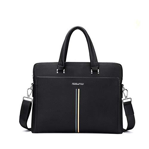 SXZHSM Herren Messenger-Tasche, Aktentasche, 43,2 cm (17 Zoll) Laptop-Tasche, lässige Schultertasche für Herren Schwarz