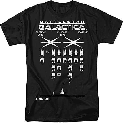 Battlestar Galactica Cyclon Invaders T-shirt, Black, Adult XL SIze