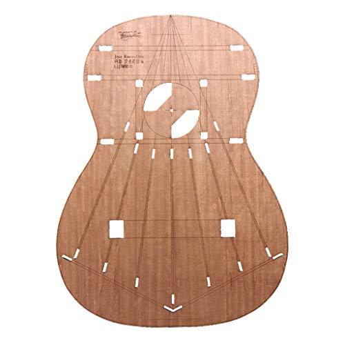 Holz Mini Gitarre Körper Vorlage für Gitarre Machen Making, Ca. 48,8 x 36 x 0,2 cm