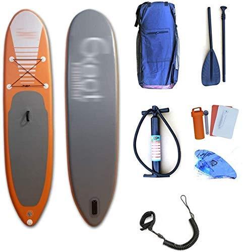 LXDDP Tabla Paddle Hinchable pie, Tabla Sup Tablas Surf con Plataforma Paleta Ajustable Antideslizante y Bomba Manual para Deportes acuáticos
