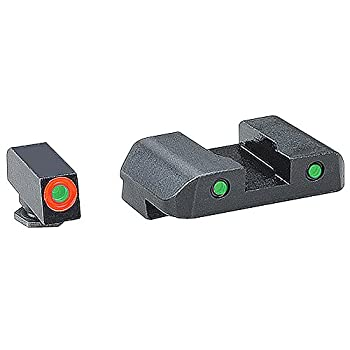 AmeriGlo Spartan Tactical Operator Front/Rear for Glock 42 and 43 Sight Green/Orange