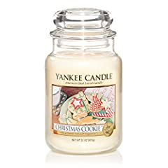 Idea Regalo - Yankee Candle 115504E Christmas Cookie Candele in giara Grande, Giallo, 10.1x9.8x17.7 cm