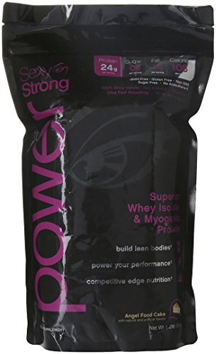 Sexy-Strong Whey Protein Isolate for Women, Angel Food Cake, 1.2 lb