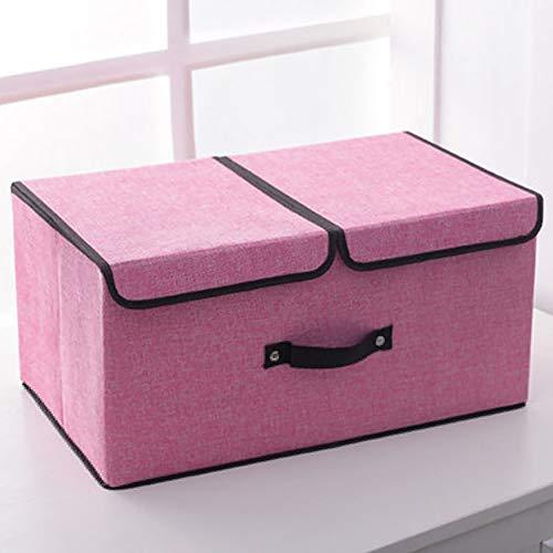 VBARV 2-Pack de almacenaje Plegable compartimientos, el Organizador del almacenaje de los Juguetes para niños con Tapas y Asas, Plegable Tela de Lona, Apto para Juguetes, estantes, Ropa