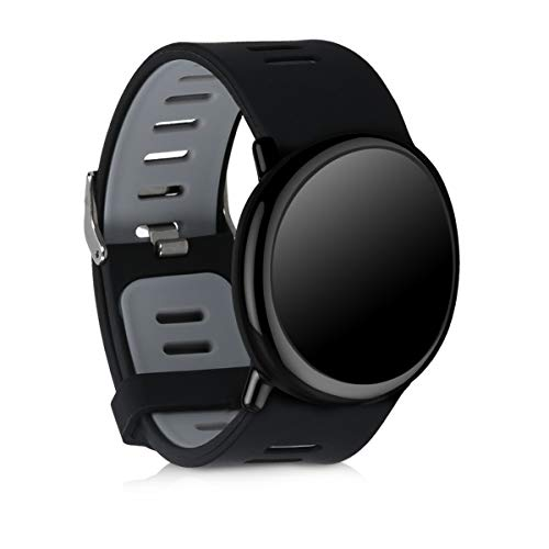kwmobile Pulsera Compatible con Huami Amazfit - Correa para Reloj Inteligente Silicona TPU Negro/Gris