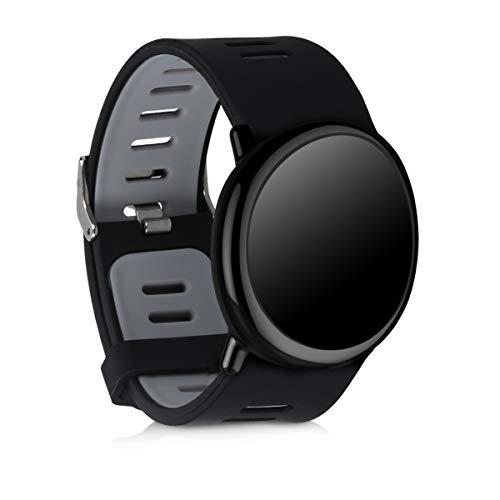 kwmobile Pulsera Compatible con Xiaomi Huami Amazfit - Brazalete de Silicona en Negro/Gris sin Fitness Tracker