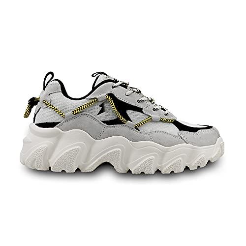 elis ElisComfort Sneaker, Zapatillas Hombre (Gris/Marrón, Numeric_41)