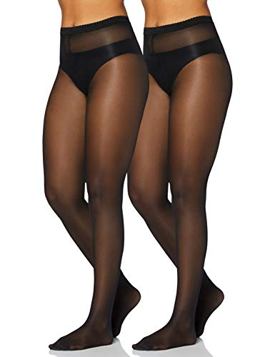 Iris & Lilly by Wolford Damen Strümpfe, 2er-Pack, Schwarz (Black), S, Label: S