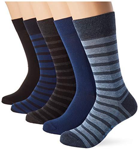 FALKE Herren Happy Box 5-Pack M SO Socken, Mehrfarbig (sortiment 0010), 43-46 (UK 8.5-11 Ι US 9.5-12) (5er Pack)
