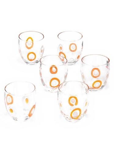 Tognana Wassergläser 6er Set Brenda orange