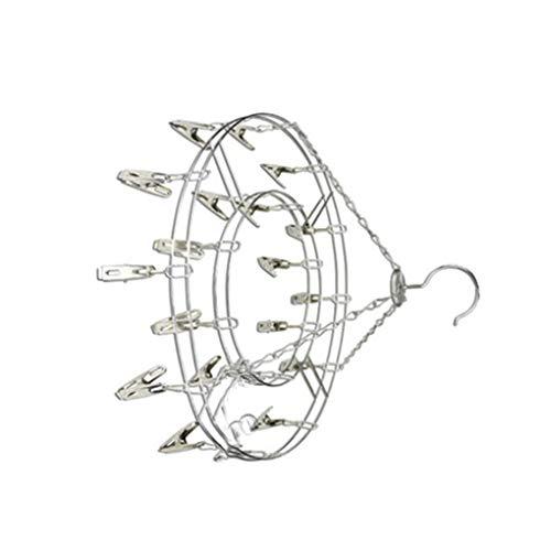 Guangcailun Forma RoundPlum Secado Estante del calcetín de la Ropa Interior Ropa al Aire Libre Tendedero secadoras Percha multifuncionales Pinzas de Campo