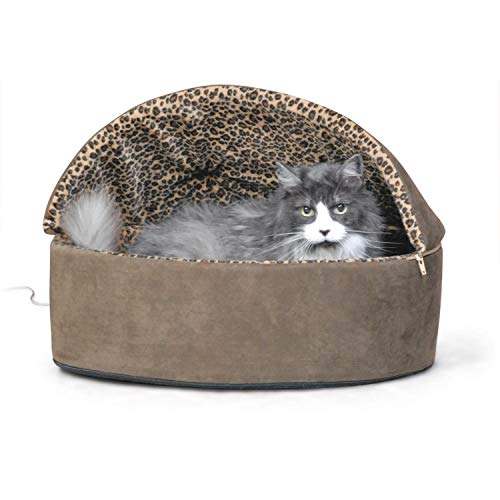 K&H Pet Products Thermo-Kitty Bed Deluxe Hooded Heated Pet B