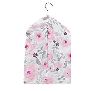 Bedtime Originals Blossom Pink/Gray Watercolor Floral Diaper Stacker