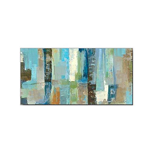 Pintura Al óLeo Pintada A Mano, Cuadros Abstractos Modernos Sobre Lienzo Arte,Sala De Estar Dormitorio DecoracióN Para El Hogar 50×100cm