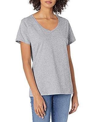 Hanes womens Nano Premium Cotton V-neck Tee athletic shirts, Light Steel, X-Large US
