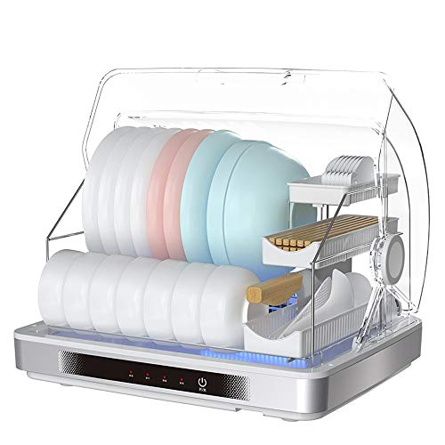 Marceooselm Disinfecting Dish Rack - Desktop Disinfection Cabinet Drying Cleaning Cabinet Tableware Storage Cabinet 48 × 37.7 × 37.8cm