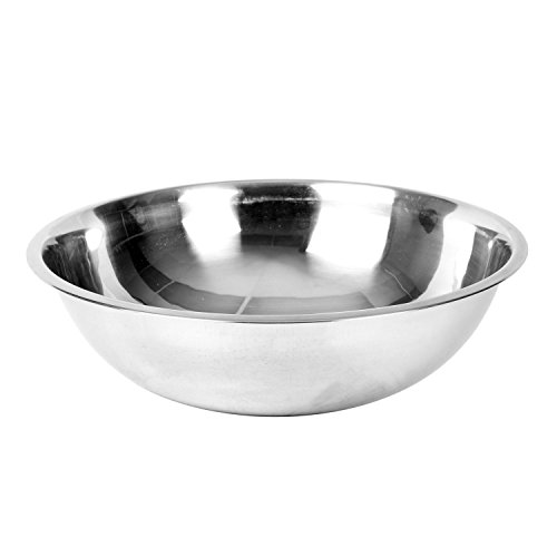 Excellante Mixing Bowl, Heavy Duty, Stainless Steel, 22 Gauge, 8 Quart, 0.8 mm