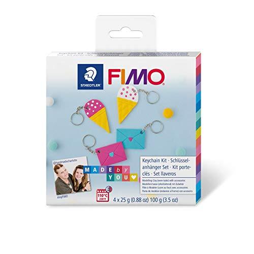 """Staedtler ST FIMO Soft DIY-Set """"Schlüsselanhänger"""" mit Anleitung und Zubehör, ofenhärtende Modelliermasse für kreative Objekte Made by You, 8025 DIY3"""