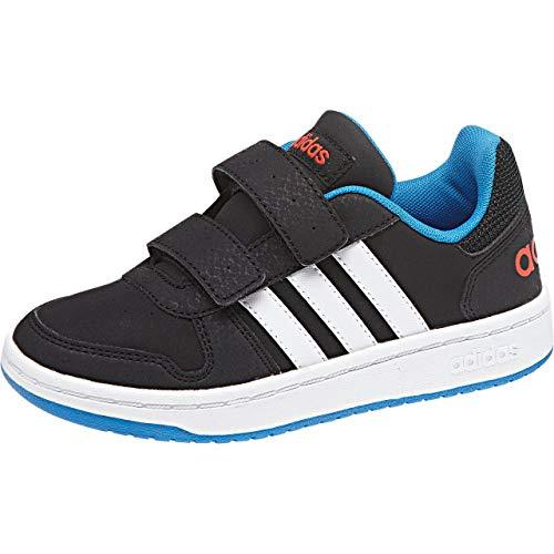 adidas Vs Hoops 2.0 CMF C, Zapatillas de Gimnasia Unisex Niños, Multicolor (Core Black/FTWR White/Bright Blue), 38 EU