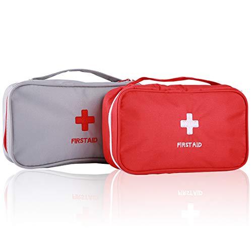 Warxin Tragbare Mini Erste-Hilfe Sets 2 stücke, Reiseapotheke Multifunktions Medizin Verbandtasche Aufbewahrungstasche Notfall Kit für Outdoor Sports Home Camping Wandern (Nur Leere Medizin Beutel)