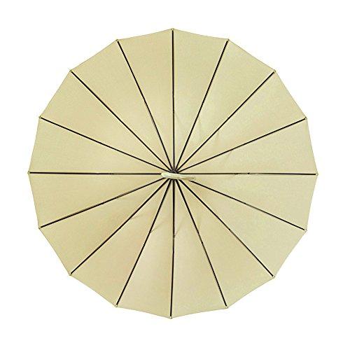 ZHUSAN Regenschirm-Langer Griff Gebogene Haken mit 16 Rippen Geschäfts-Oversize Starker Windundurchlässiger Großer Faltender Golf-Sonnenschirm Kreatives Retro- Doppeltes Für Frauen