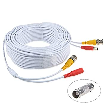 TOP+ 150ft White Extention Power/Video Cable for SWDVK-846004 SWDVK-880754 SWDVK-880758