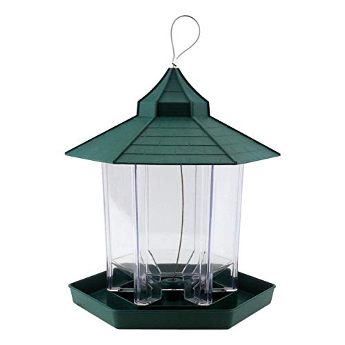 PetsN'all Bird Feeder (Easy to grasp the capacity of the bait / Wide feed space, can install approximately 2.2 lbs (1 kg) baits) with roof