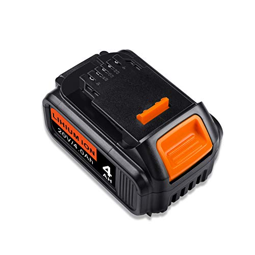 Cordless Power Tool Replacement Battery for DEWALT DCB205-2 20V Lithium Ion 4.0AH DCB200 DCB204 Battery Pack with LED Indicator (1)