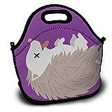 気絶しているハリネズミ ランチバッグ 大容量弁当バッグ トートバッグ 手提げバッグ お弁当入れバッグ 面白い 通勤 通学 バッグ 可愛い 創意柄
