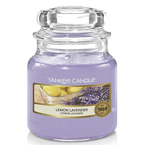 Yankee Candle Candela profumata in giara piccola | Lavanda al limone | Durata Fino a 30 Ore