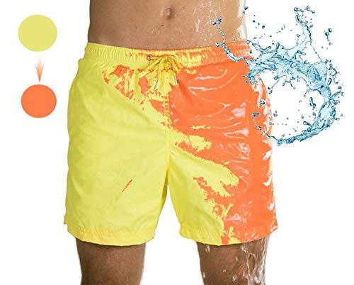 Leeharu Traje de baño para Hombre con Cambio de Color Pantalones de Playa con Cambio de Color Sensible a la Temperatura Pantalones Cortos de baño para Hombre Pantalones Cortos de Playa para Verano