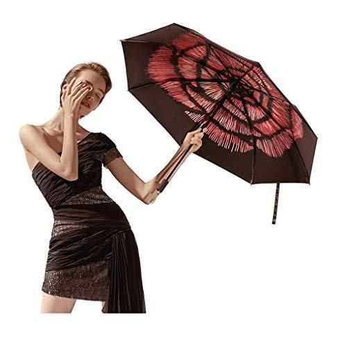 Sonnenschirm Magic Night Black Umbrella Regen und Regen doppeltem Verwendungszweck Folding Female Technologie Beschichtung Regen und Regen Blockieren 99% UV
