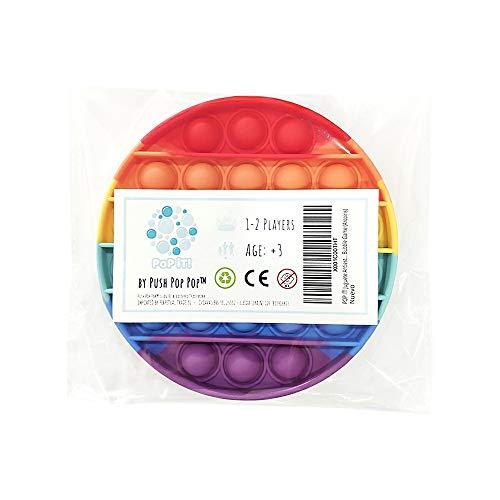 Push Pop Pop Pop It Juguete Antiestrés Sensorial Juego Explotar Burbujas Autismo Ansiedad Fidget Toy Niños Necesidades Especiales Relajante Adultos Original Divertido Bubble Game (Arco Iris)