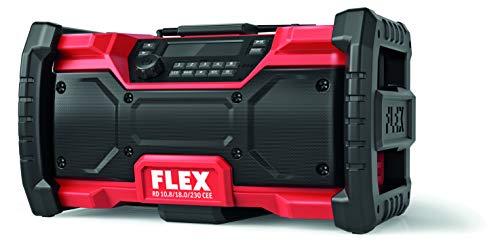 Flex 484857 CEE Digitales Akku-Baustellenradio RD 10.8/18.0/230 (10,8V, 18V oder Netzstecker, DAB+, FM, Ohne Akkus, mit Netzteil)
