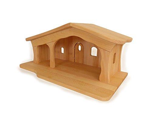 Holz-Weihnachtskrippe 2440 - Massivholz - Kinder-Spiel-Bauernhof - Krippenstall
