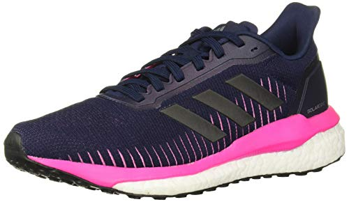 adidas Women's Solar Drive 19 Running Shoe, Collegiate Navy/Black/Shock Pink, 8 M US