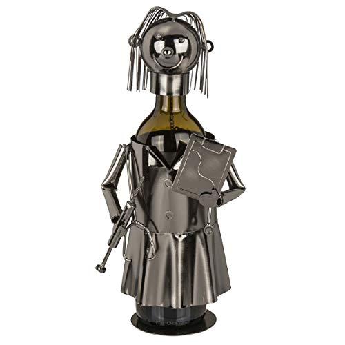 OOTB Metall-Flaschenhalter Arzt, ca. 21 x 15 cm # 71/3177