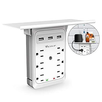 Socket Outlet Shelf - 9 Port Surge Protector, V...