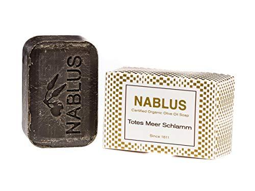 Nablus Soap natürliche Olivenölseife, Sorte: Totes Meer Schlamm, handgemacht und palmölfrei, 100g