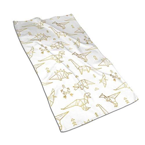 DHGER Acuarela Imprimir Art Print Painting Toallas de baño Juego de Toallas de algodón Juego de Toallas de algodón Egipcio Ultra Absorbente Deporte de Viaje Dinosaurios de Origami 27.515.7in