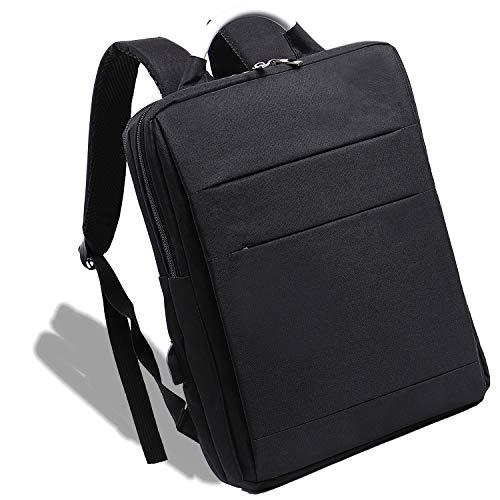[XVIITA] リュック 薄型 バックパック スリム ビジネスリュック リュックサック大容量 マチ 5-12cm USBポート付 出張バックインバック セット 通勤 通学 男女兼用 スタイリッシュ (ブラック)