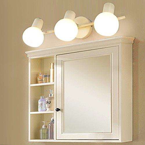 dbsama Von Punch, minimalistischen modernen Glas led vorne zu aktuellen Europäischen Stil Schlafzimmer Badezimmer Spiegelschrank Licht wc dusche, warmes Licht und Elfenbein 45 cm