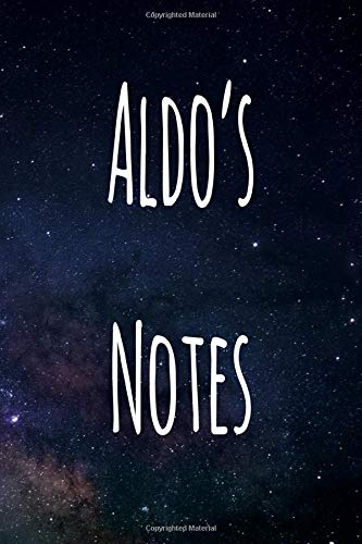 Aldo's Notes: Personalised Name Notebook - 119 Page Journal! Perfect Gift!