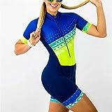 Ciclo De Mujer Jersey Profesión Triatlón Traje Ciclismo Ropa De Ciclismo Mono De Mujer #, (Color : 4, Size : Medium)