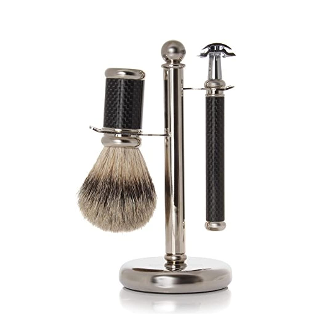 急ぐ逆説系譜GOLDDACHS Shaving Set, Safety razor, Finest Badger, Carbon